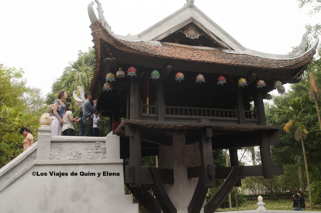 Pagoda del pilar único de visita por Hanoi