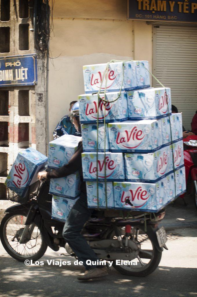 Transporte de agua. Fin de viaje