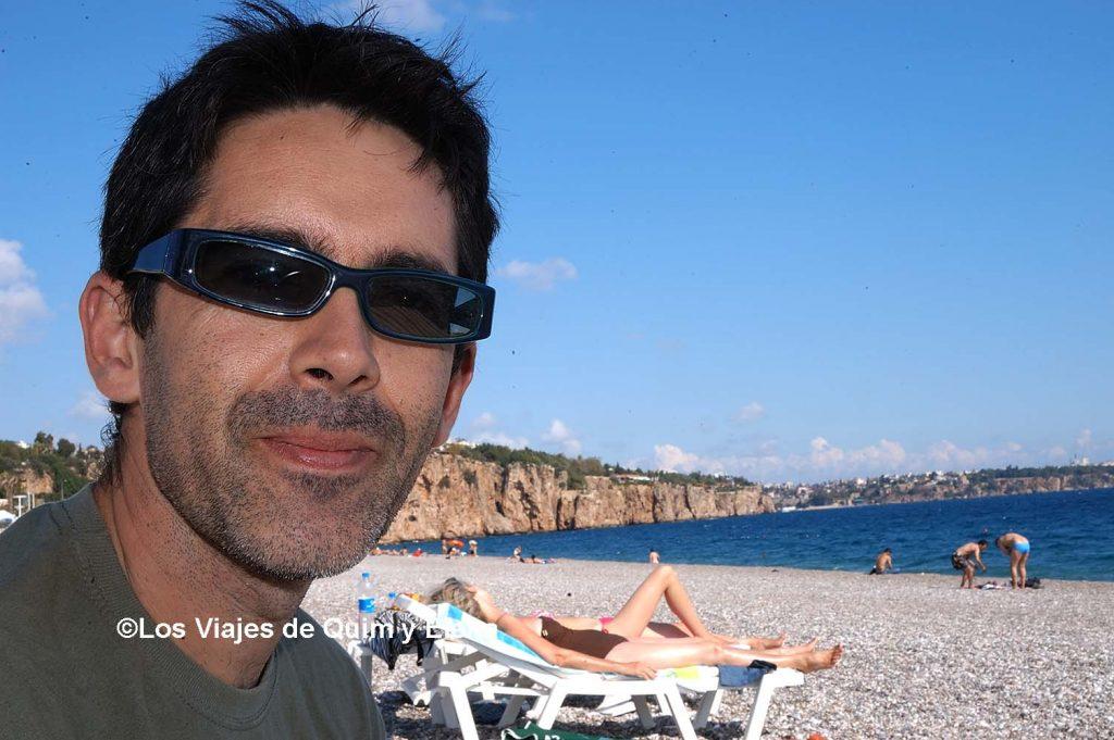 Quim en la playa. Hamman en Antalya