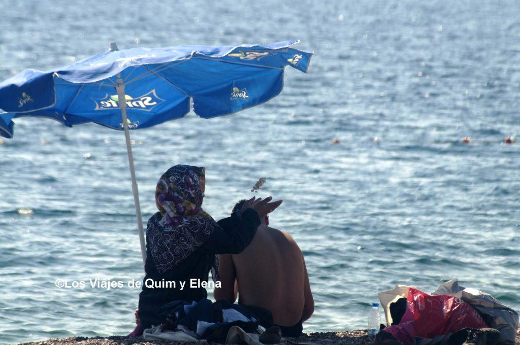 No todo el mundo puede disfrutar igual en la playa