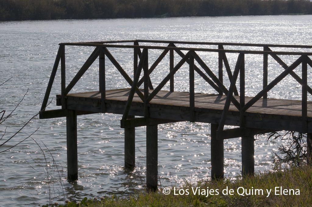 Pasarela en el Ebro