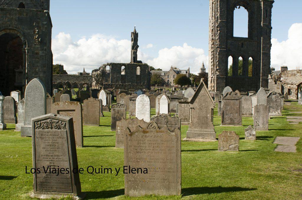 Cementerio de St. Andrews en Escocia