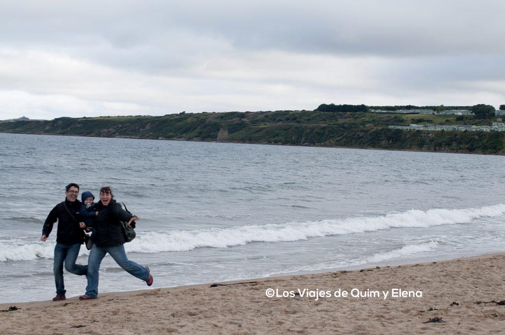 Corriendo en St. Andrews, Escocia