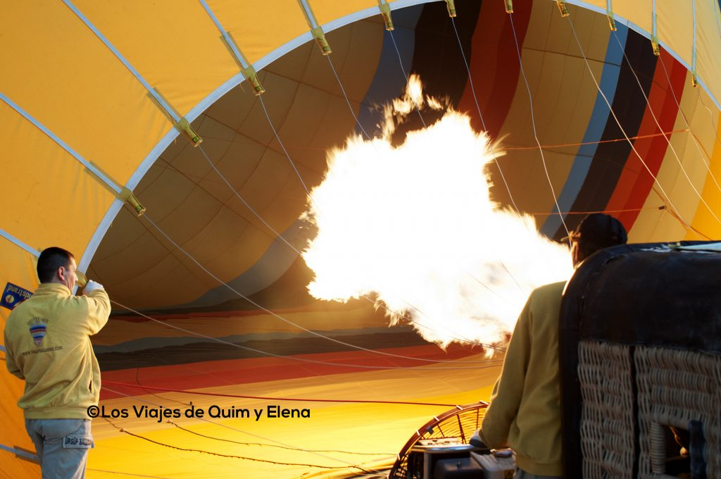 Inflando el globo en Turquía
