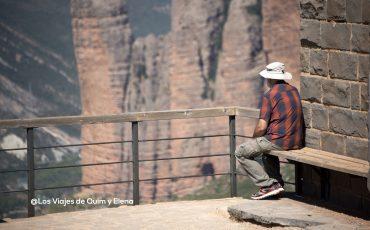 Jose, el abuelo de Éric disfrutando de las vistas