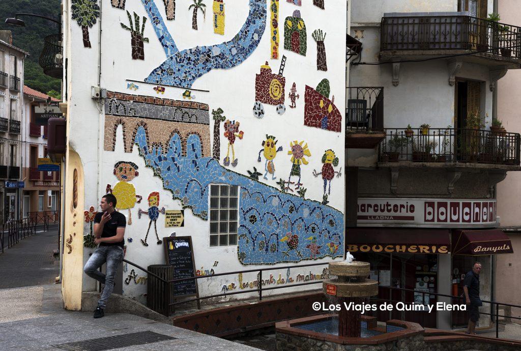 Mural en Amelie Les Bains