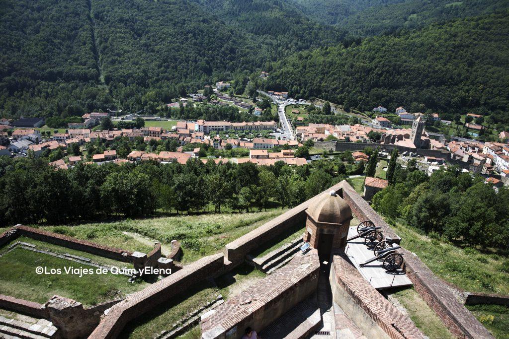 Vista del pueblo desde la fortaleza