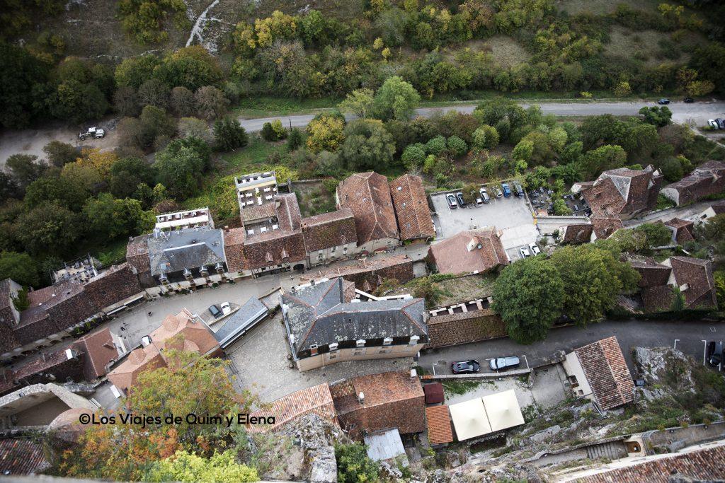 Vistas de Rocamadour desde el castillo
