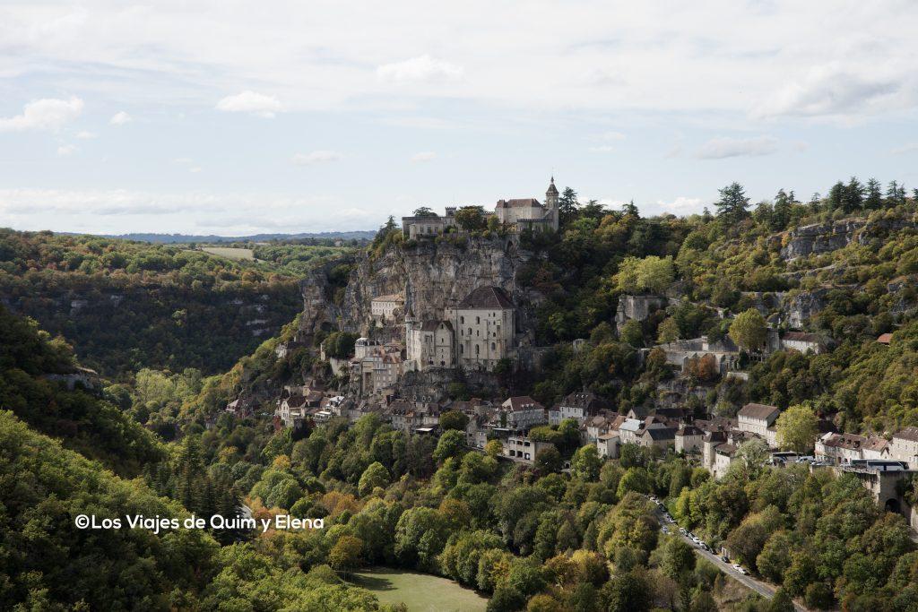 Panorámica de Rocamadour. 7 días por Francia.