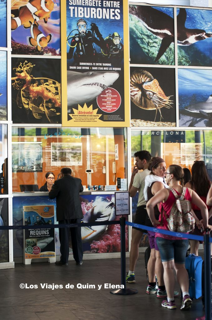 Taquilla del Aquarium de Barcelona