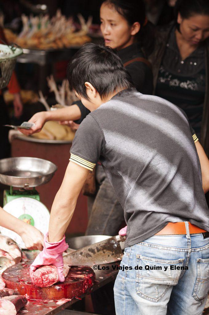De compras en el mercado de Sapa
