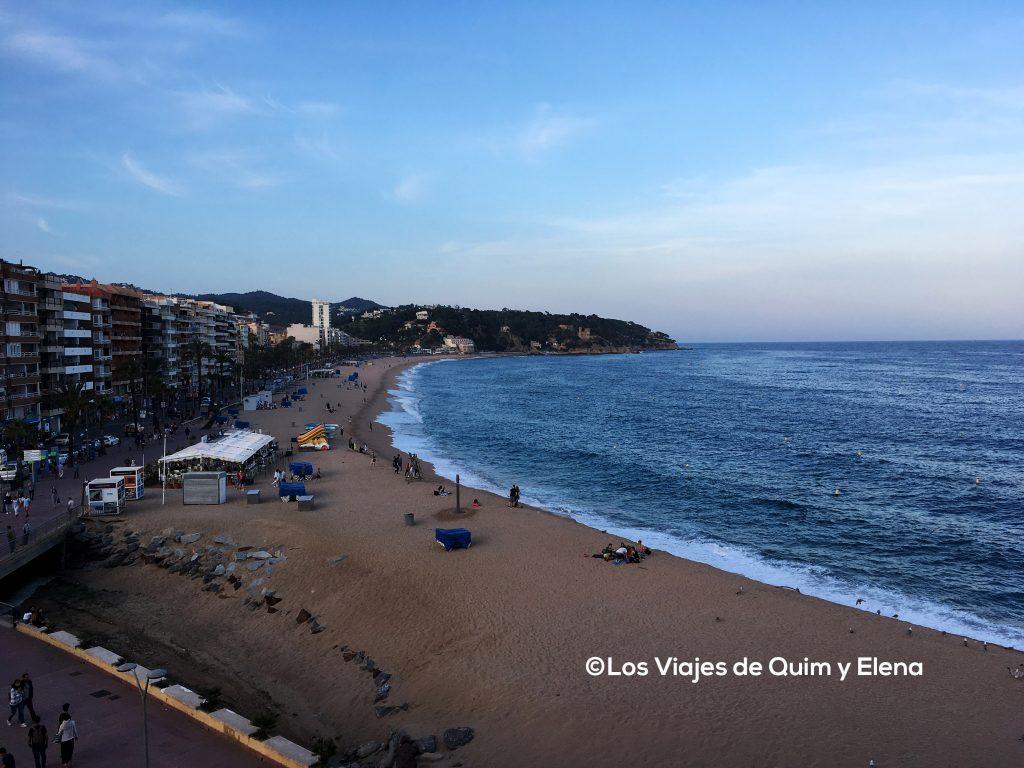 Vista de Lloret de Mar desde el Restaurante Atics