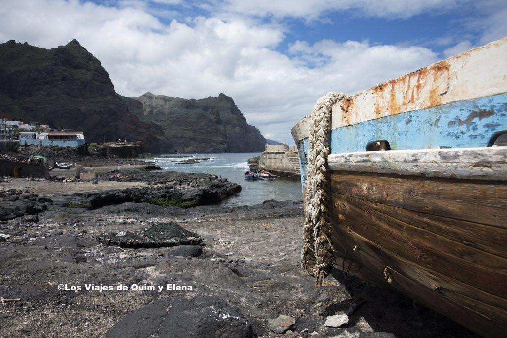 Barca de pescador en Ponta do Sol
