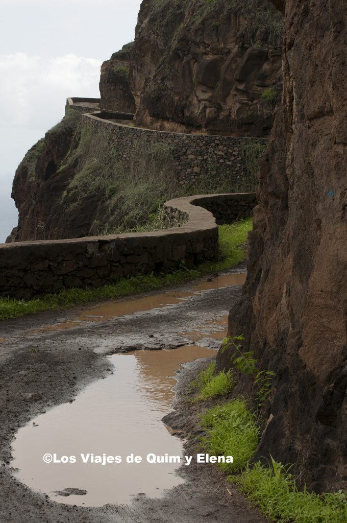 Carretera a Fontainhas en Santo Antao