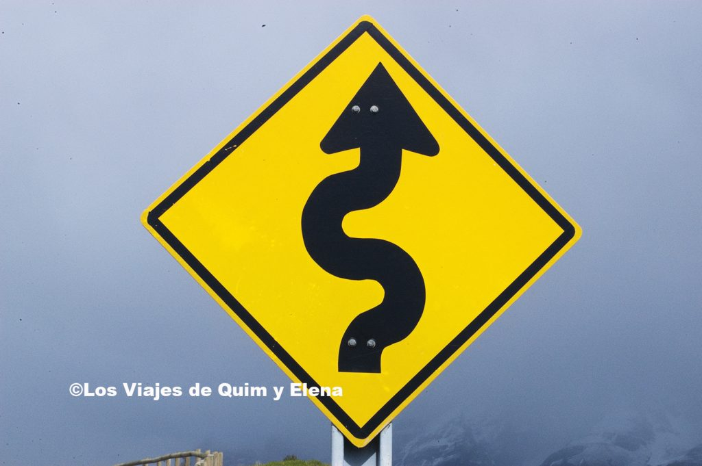 Señal en el Parque Nacional Torres del Paine