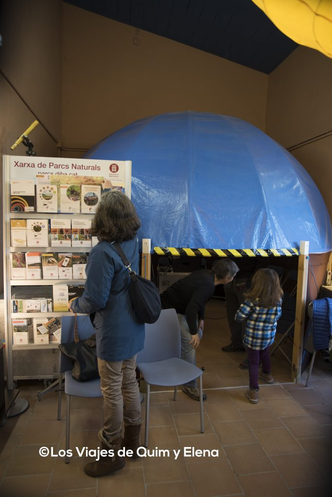 El pequeño planetario del Observatorio de Garraf