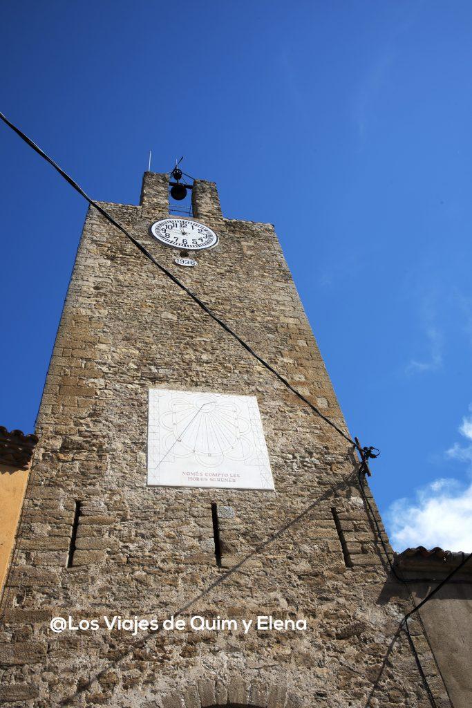 La Torre de las horas de palau Sator