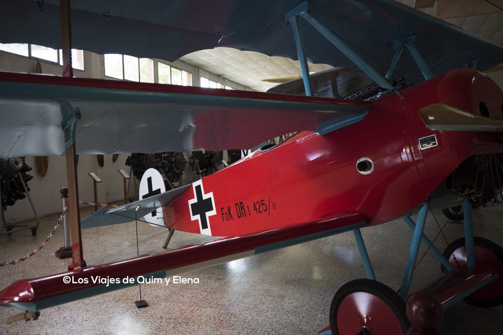 Fokker DR-1 en el museo de la aeronáutica