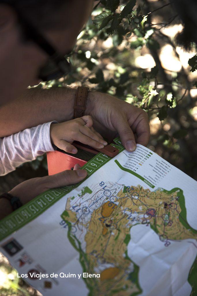 Hay que marcar el mapa de deporte de orientación