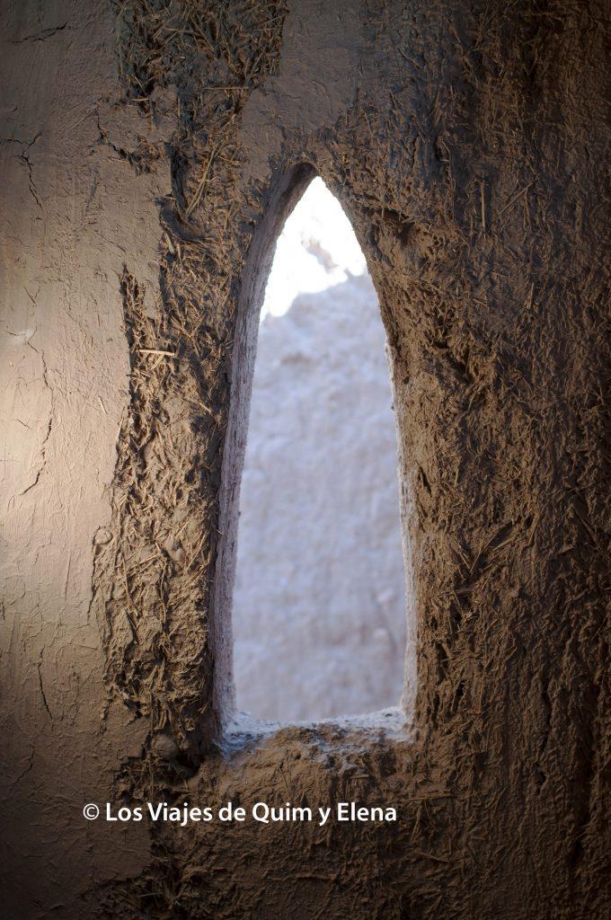Ventana de una casa en Ait Ben Haddou