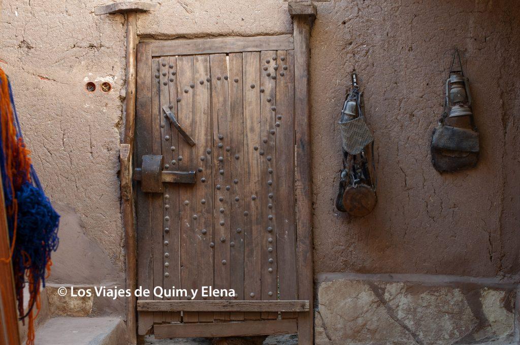 Puerta de la casa de nuestro guía