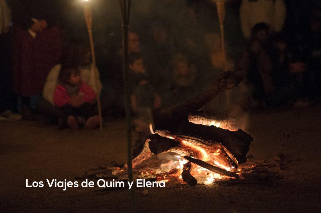 Noche de fuego y percusión en laTrobada de Familias en Ruta