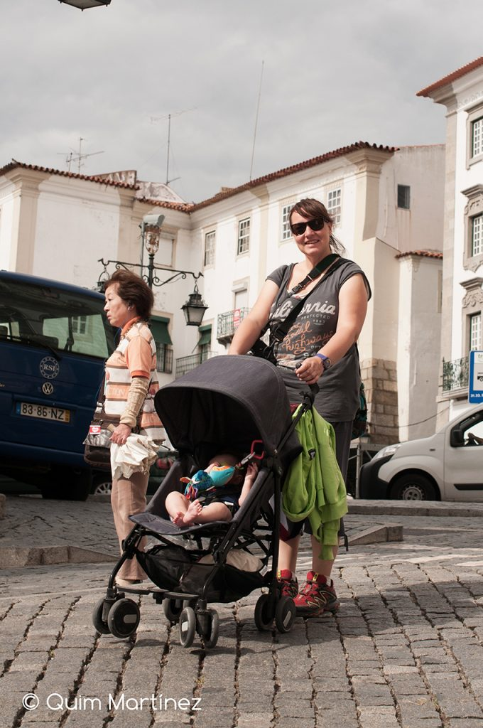 Éric y Elena disfrutando en Évora