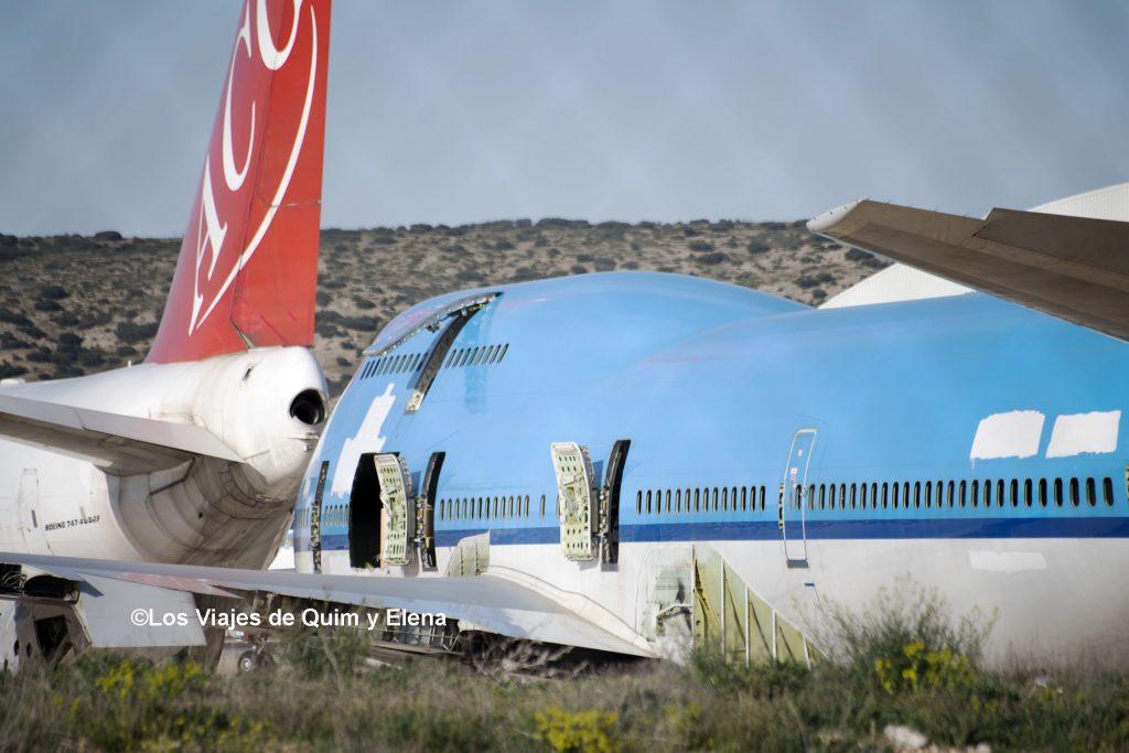 Boeing 747 que no volverá a volar - Aeropuerto de Teruel