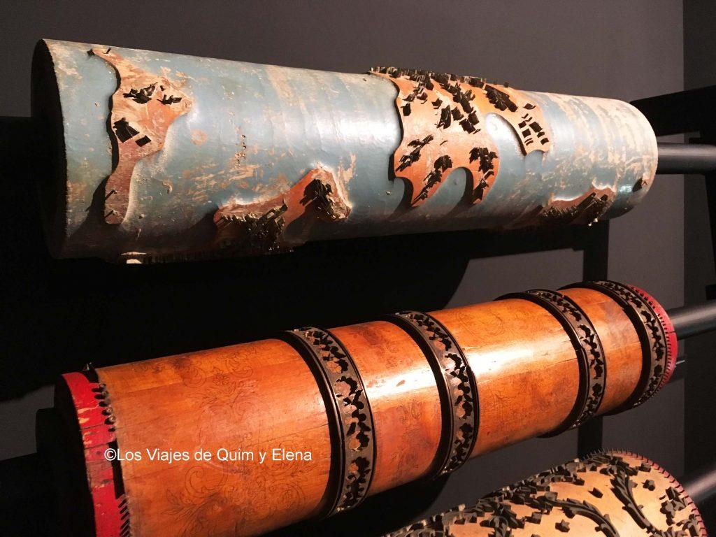 Rodillos con estampados, Museo de la estampación