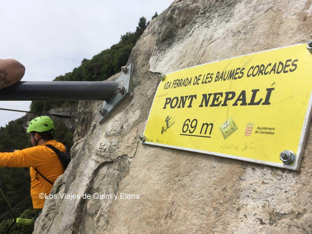 Inicio del puente nepalí