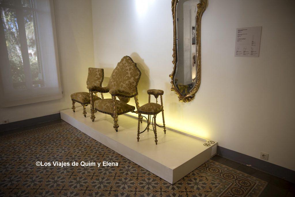 Muebles diseñados por Gaudí