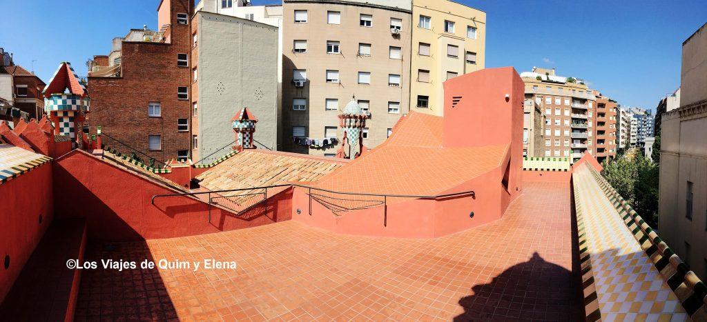 La cubierta de la Casa Vicens
