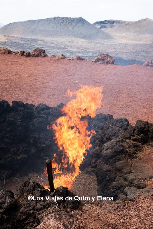 Al calor del volcán