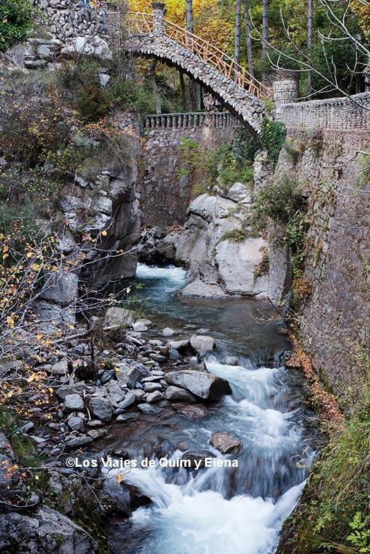 El Llobregat pasando por los Jardines Artigas