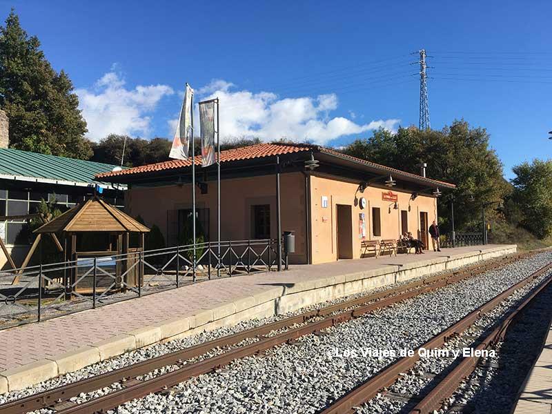 Estación de La Pobla de Lillet del Tren del Ciment