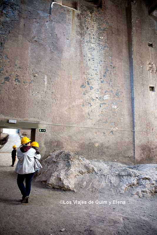 En la zona de los silos del Museu del Ciment
