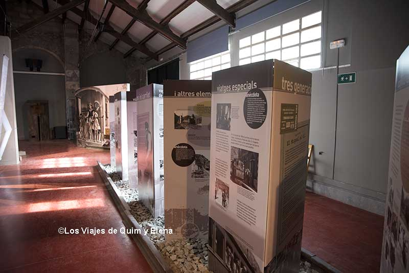 Exposición del tren del Ciment