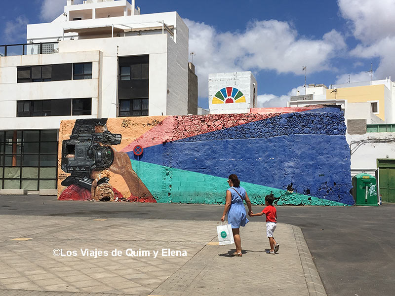 Mural en las calles de Arrecife