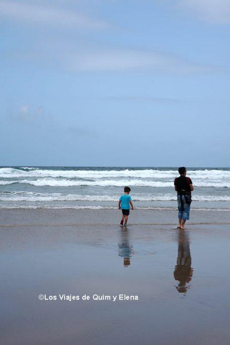 Éric, Álex y Quim en Playa de famara