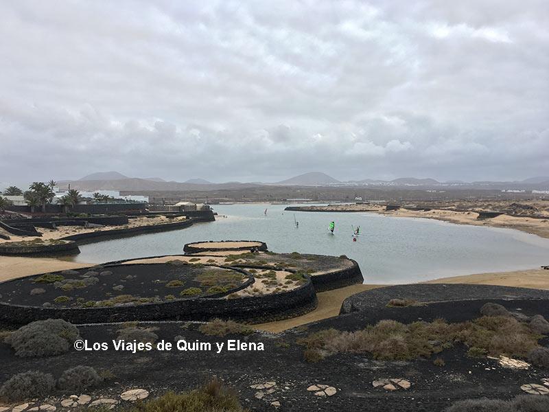 La zona de surf en Lanzarote junto a La Santa