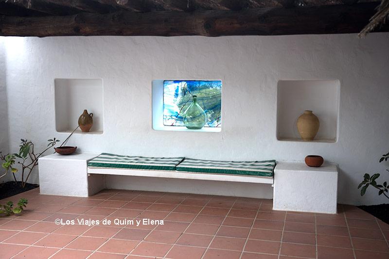 Un rincón en la Casa de César Manrique
