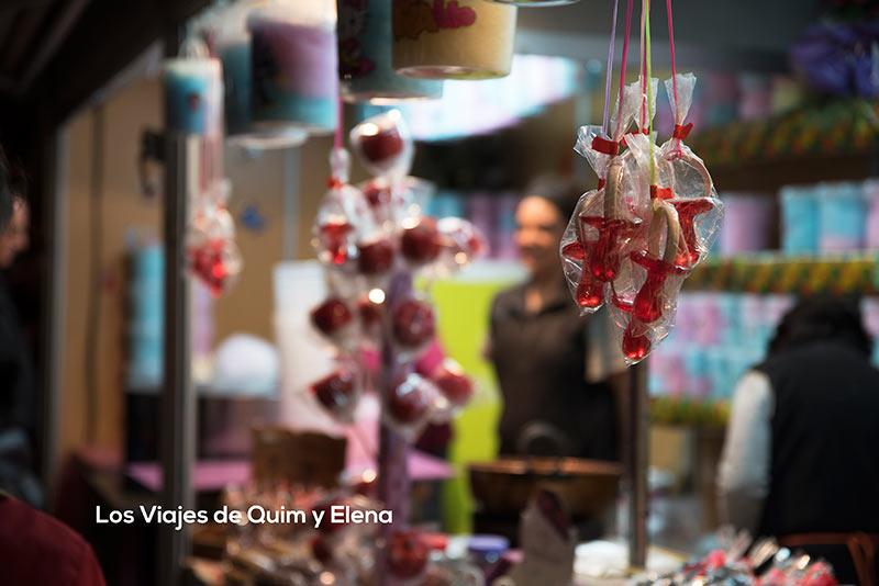 Dulces en los mercados navideños