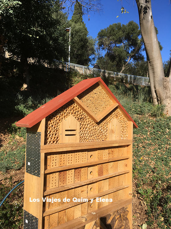 El refugio de insectos de Jardins Pla i Armengol