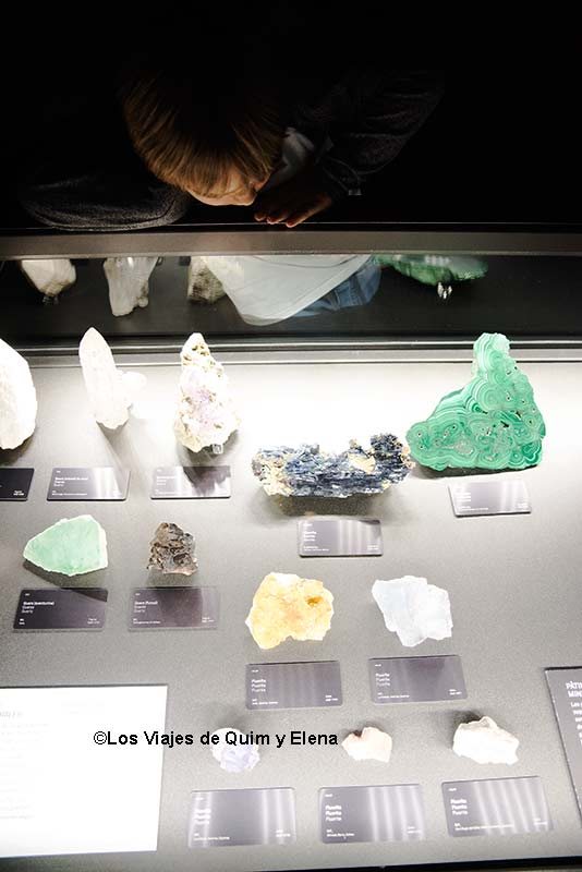 Éric en la zona de minerales