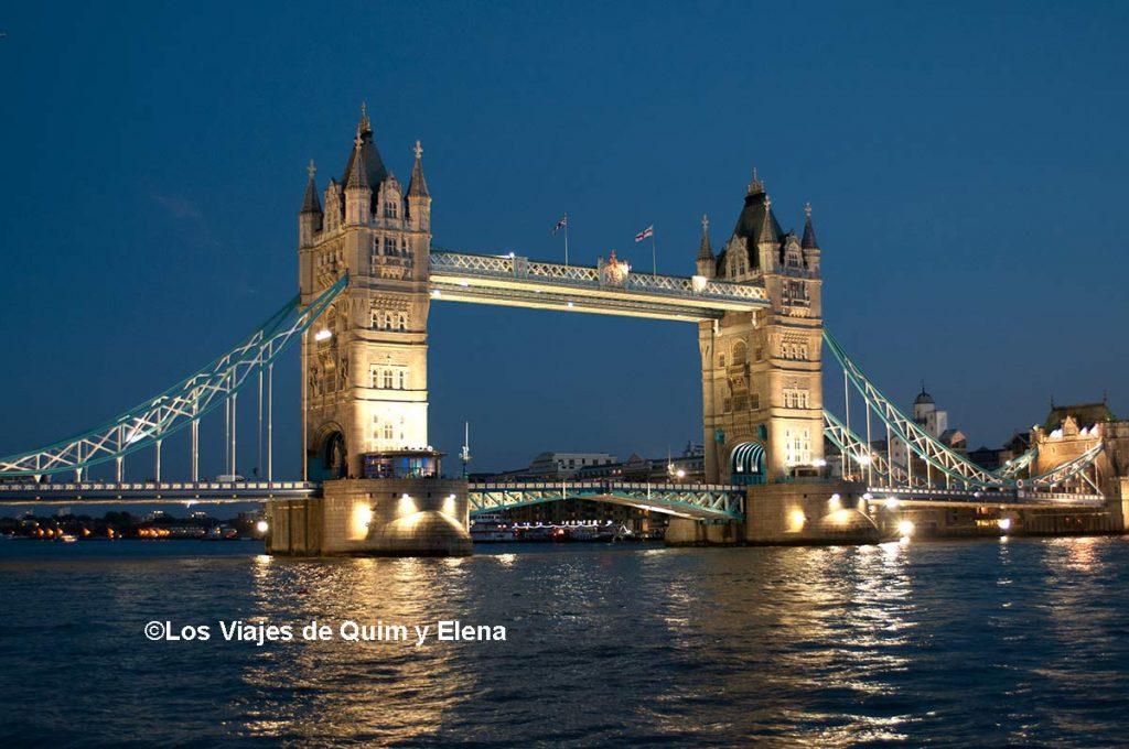 Tower Bridge después de visitar Hyde Park