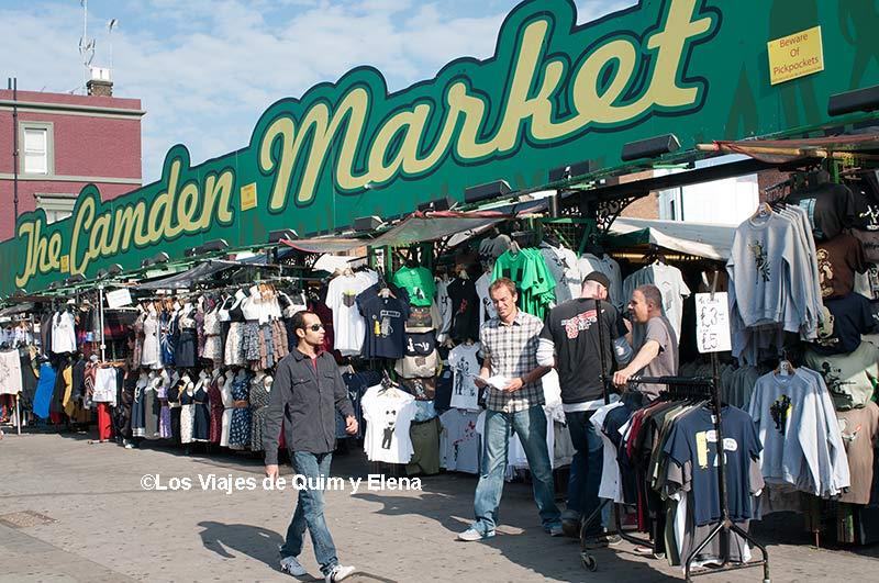 Tiendas en el Mercado de Camden