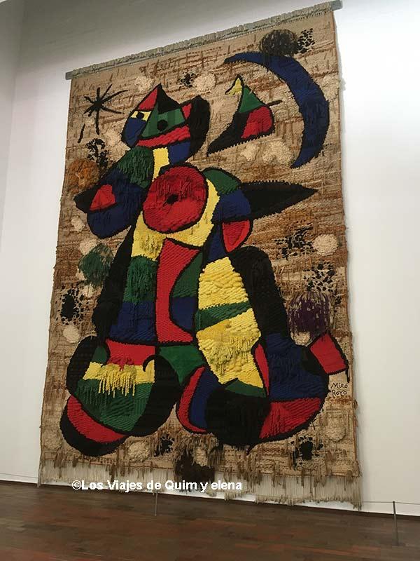 Tapiz en la Fundación Miró
