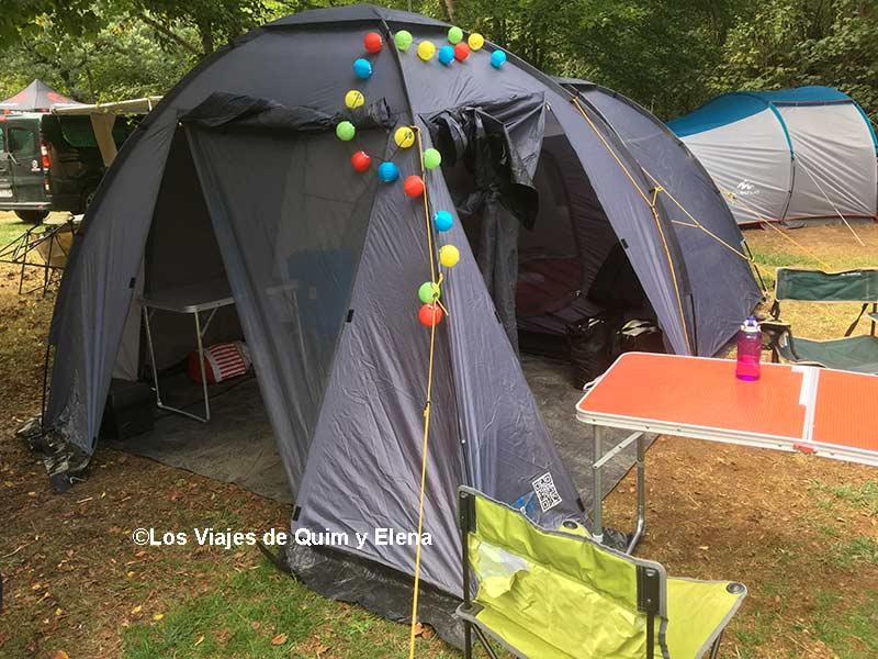 Instalados en el camping