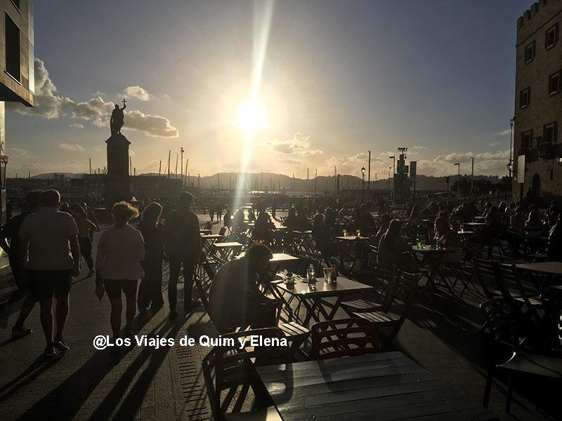 Atardecer en Gijón en nuestras vacaciones accidentadas