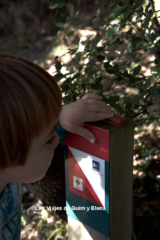 Éric investigando la pinza para marcar. Guía circuitos de orientación